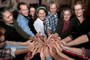 HandsGroupHandShake RobynRosenfeldtFaces
